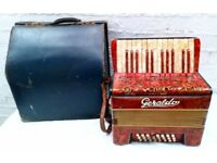 c1930 Vintage Geraldo 12 Bass Accordion with Original Case - Made in Germany