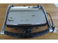 Kenwood Panini & Sandwich Machine Maker Press SM606 (Silver) + Instructions