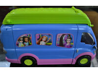 Polly Pocket Disco Rock and Roll Party Bus