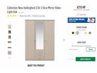 Brand NEW still in the box, New Hallingford, 3 Door 3 Draw, Mirror wardrobe
