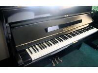 John Russell Black Upright Piano | Belfast Pianos.