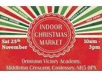 INDOOR CHRISTMAS MARKET, COSTESSEY, NORWICH, SAT 25TH NOVEMBER, 10AM - 3PM, SANTA'S GROTTO