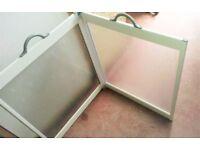 2 Panel Portable Shower Screen