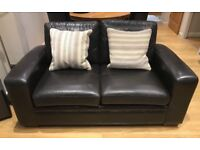 Leather 2 seater sofa by Next
