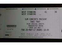 2 X Take That Standing Tickets May 25th Manchester Arena
