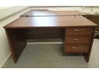 Office desk with drawers nearly new