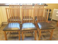 Oak dining chairs 6