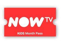 Now tv 6 Months Kids Pass - Genuine