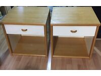 A pair of bedside tables, dresser