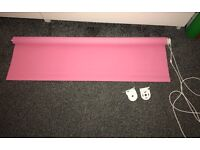 NEW Pink Roller blind brilliant condition no marks £20