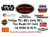 TOYS WANTED CASH PAID 70s 80s 90s STAR WARS HE MAN GHOSTBUSTERS TRANSFORMERS ANYTHING CONSIDERED