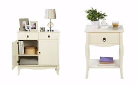 NEW Classic French Style Living Room SET 2 Door Sideboard with 2 Drawers and Side Table in IVORY
