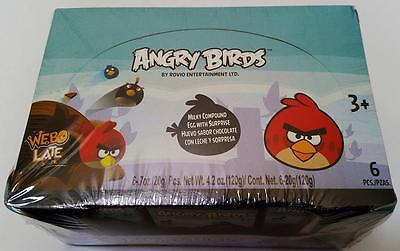 NEW Angry Birds Chocolate Egg Toy Surprise Box of 6 Free Shipping