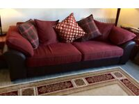 4 seater couch sofa DFS red