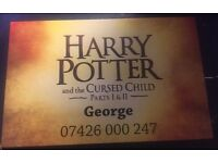 Harry Potter and the cursed child tickets (15th Jan)