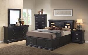 Beautiful 4 and 5 Piece Bedroom Set with Bed Storage included (also sold separately)