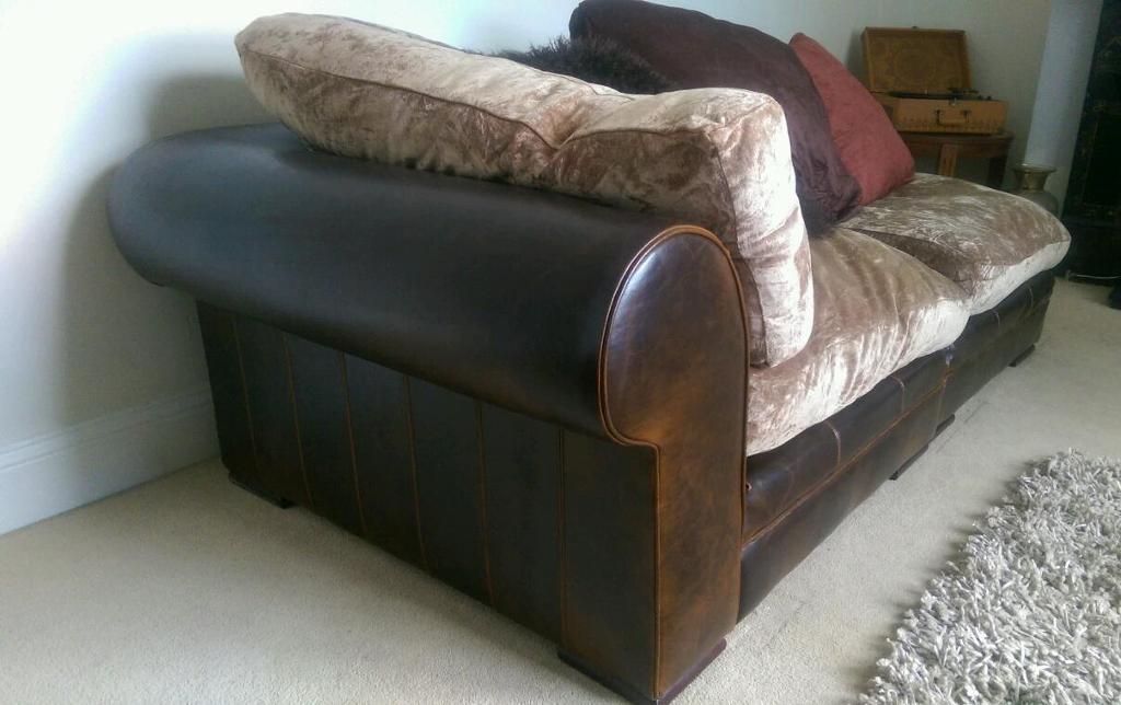 dfs real leather hemingway linda barker 5 piece 2 corner setee - Setee