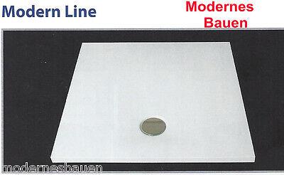 Rechteckige Ebene (Breuer MODERN-LINE Mineralguss Duschwanne Duschboard bodeneben, rechteckig)