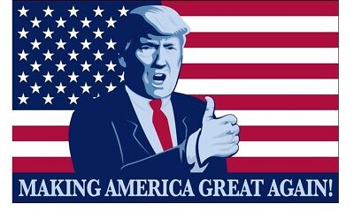 Donald Trump President Make America Great Again MAGA Thumbs Up 3x5 Feet Flag
