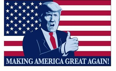 Trump President Make America Great Again Thumbs Up 3x5 Feet MAGA Flag Banner