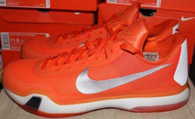 Nike Kobe X TB Basketball Shoes Orange White Men's Size 14.5 New Never Worn