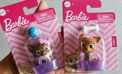 Barbie Pets Lot of 2! Puppy & Kitten barbie cat & dog barbie house animals