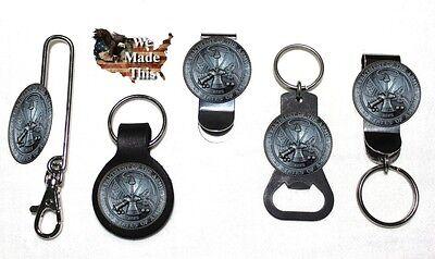 The United States Army USA Bottle Opener Key Fob Key Holder Money Clip Hoorah ()