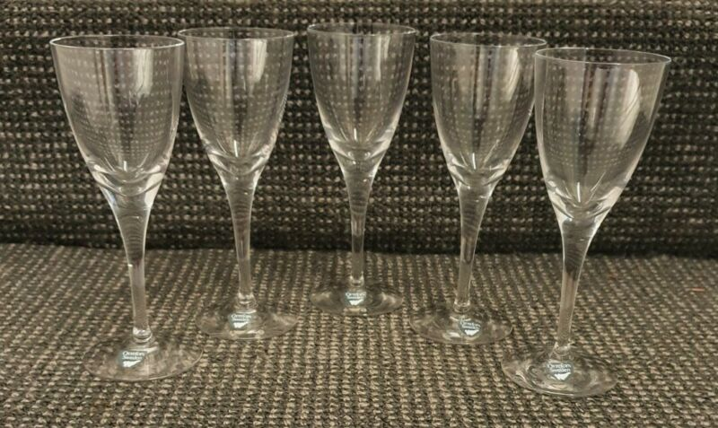 🔶️5x ILLUSION NILS LANDBERG ORREFORS SWEDISH GLASS SHERRY SCHNAPPS CRYSTAL PORT