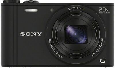 Sony Cyber-Shot DSC-WX350 Digital Camera (18.2 MP, 20x Optical Zoom) - Black