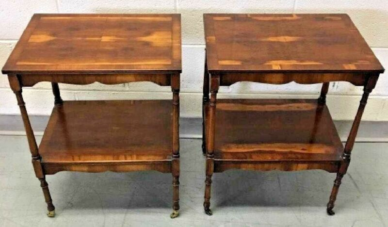 PAIR OF ANTIQUE ENGLISH REGENCY SIDE TABLES END STANDS