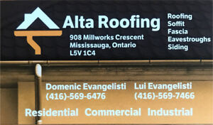 Roofing specialists **(FLAT ROOF)** **(SHINGLES)**