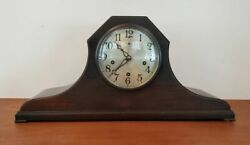 Antique New Haven Westminster Chimes Clock Mantle Tambour Style 1920s