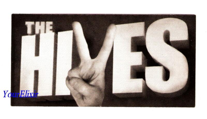 THE HIVES Black & White Album Octone Hand Peace Sign Case Sticker