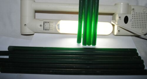 old bakelite, green translucent galalith rods, 550grams