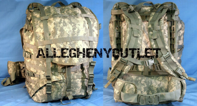 molle ii large rucksack field pack acu frame set up us military issue vgexc