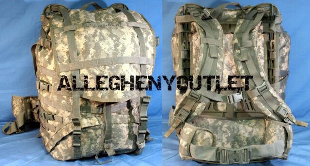 MOLLE II Large Rucksack Field Pack ACU Frame Set up US Military ...
