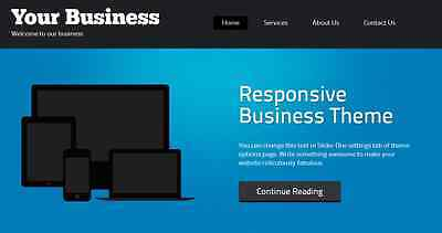 Responsive Business Website Wordpress Start Up Wordpress Installed Hosted