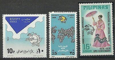 UPU GYPTEN PHILIPPINNEN MINR 1746 1650 1094