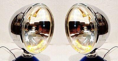 Xenon 10 LED Turn Signal Running Headlights Chrome Dietz Dune Buggy VW Sandrail