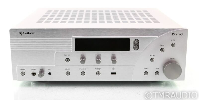 Outlaw Audio RR2160 Stereo Receiver; RR-2160; USB; MM / MC Phono (No Remote)
