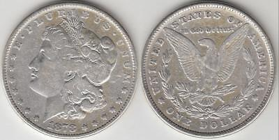 1878 8 TAIL FEATHER MORGAN SILVER DOLLAR 8TF very fine