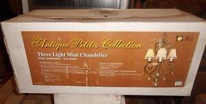 Royce Lighting RC2184 / 3PRB 3 Light Mini Chandelier NOS
