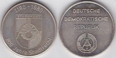 Hettstedt-Medaille Stassfurt 800 Jahre Stadtrecht 1980 nicht magnetisch