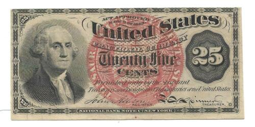 US Fractional - 25 Cents Note - 1863 - 4th Issue - Uncirculated