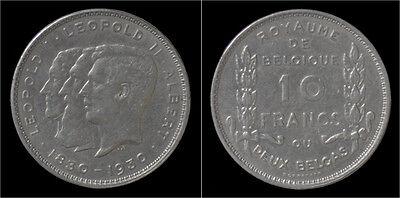 Albert I 10 frank (2 belga) 1930FR-pos B
