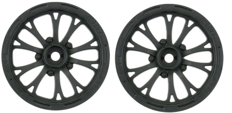 Pro-Line Pomona Drag Spec 2.2 Black Slash Front Wheels (2pc) PRO277503