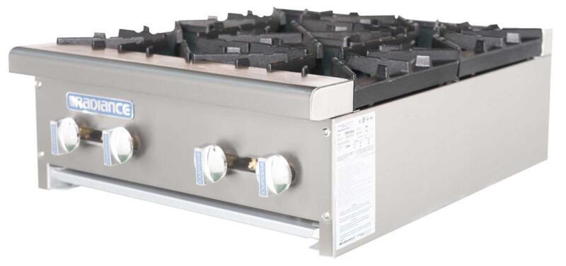 "Radiance Tahp-24-4 24"" Counter Top 4 Burner Gas Commercial Hotplate 128,000 Btu"