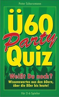 Ü-60 Party-Quiz Spiel für Erwachsene 2-6 Spieler 60. Geburtstag Geschenk Spaß