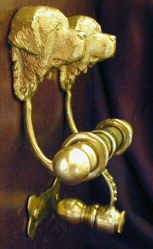 NEWFOUNDLAND, LANDSEER Bronze DUET Door Knocker