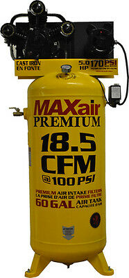 Maxair - C5160v1-map - 5hp 60 Gallon 18.5 Cfm -single Stage - Air Compressor